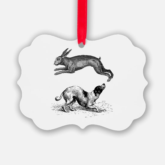 hound and hare Ornament
