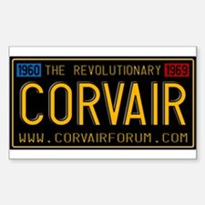 Revolutionary Vintage Plate Sticker (Rectangle)