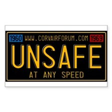 UNSAFE Vintage Plate Decal