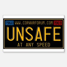 UNSAFE Vintage Plate Sticker (Rectangle)