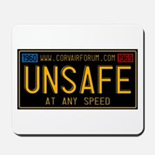 UNSAFE Vintage Plate Mousepad