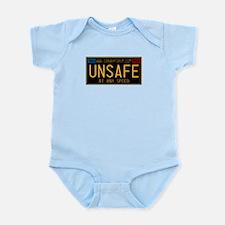 UNSAFE Vintage Plate Infant Bodysuit