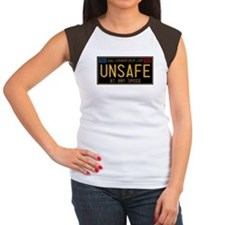 UNSAFE Vintage Plate Women's Cap Sleeve T-Shirt
