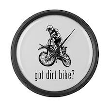 Dirt Bike Large Wall Clock
