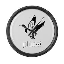 Ducks 1 Large Wall Clock