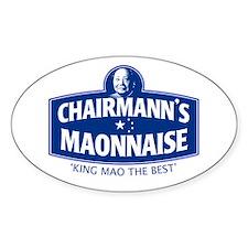 CHAIRMANN'S MAONNAISE Oval Decal
