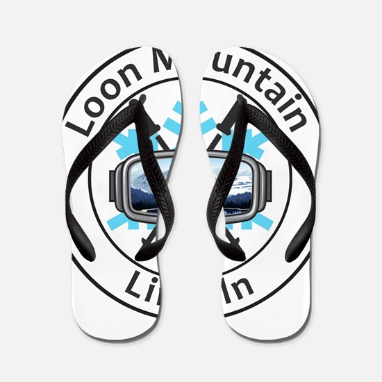 Loon Mountain - Lincoln - New Hampshi Flip Flops