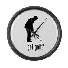 Golf 3 Large Wall Clock