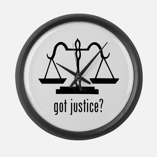 Justice Large Wall Clock