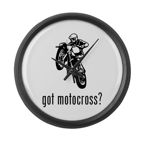 Motocross 2 Large Wall Clock