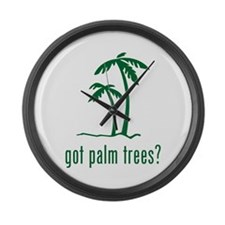 Palm Trees Large Wall Clock