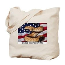 USA Gadsden Flag Tote Bag