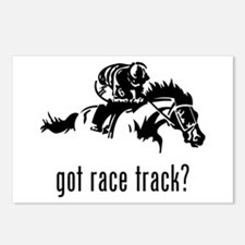 Race Track Postcards (Package of 8)