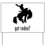 Rodeo 3 Yard Sign