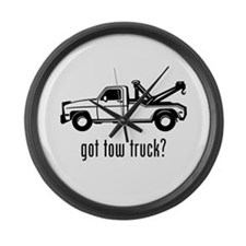Tow Truck Large Wall Clock