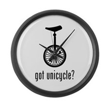 Unicycle Large Wall Clock