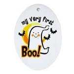 My First Boo Ornament (Oval)