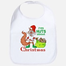 Santa Squirrel Bib