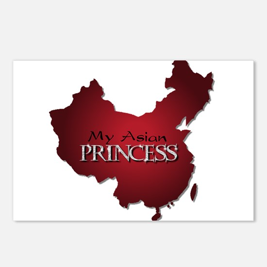 My Asian Princess (Red) Postcards (Package of 8)