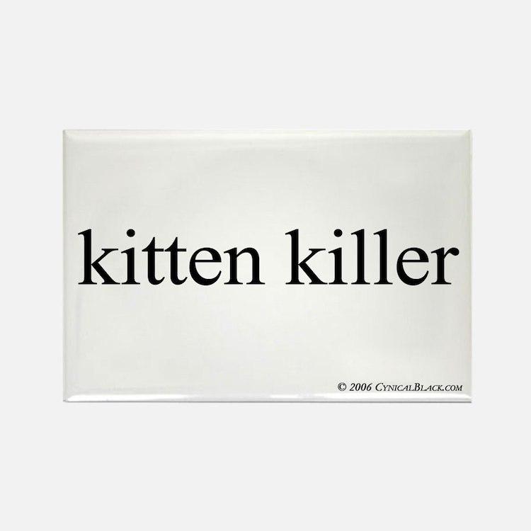 Kitten Killer Rectangle Magnet