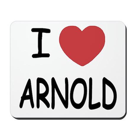 I heart Arnold Mousepad