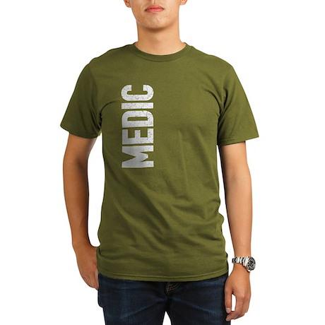 Medic (vertical) Organic Men's T-Shirt (dark)