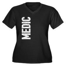 Medic (vertical) Women's Plus Size V-Neck Dark T-S