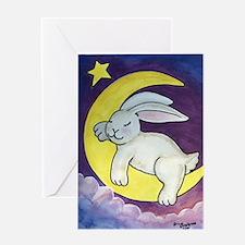 Cute Sleeping bunnies Greeting Card