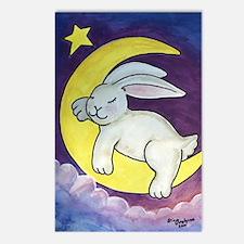 Cute Sleeping bunnies Postcards (Package of 8)