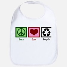 Peace Love Recycle Bib