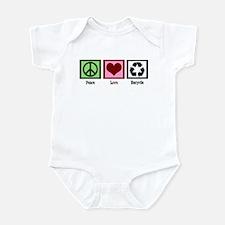 Peace Love Recycle Infant Bodysuit