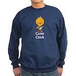 Rifle Camo Chick Hunting Sweatshirt (dark)