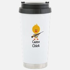 Rifle Camo Chick Hunting Travel Mug