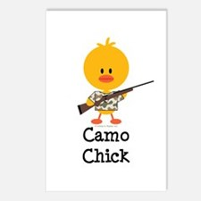 Rifle Camo Chick Hunting Postcards (Package of 8)