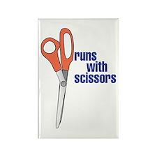 CRAZYFISH runs with scissors Rectangle Magnet