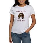 Work Sucks Let's Ride Skull Women's T-Shirt