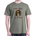 Work Sucks Let's Ride Skull Dark T-Shirt