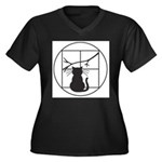 SAW Women's Plus Size V-Neck Dark T-Shirt