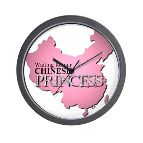 Waiting for our Chinese Princ Wall Clock