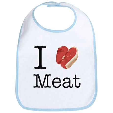 I heart meat Bib