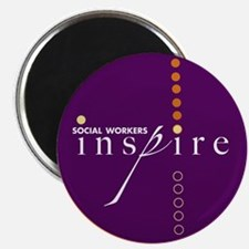 """Social Workers Inspire 2.25"""" Magnet (100 pack"""