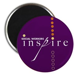 """Social Workers Inspire 2.25"""" Magnet (10 pack)"""