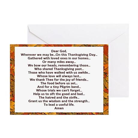 Thanksgiving Prayer Greeting Card