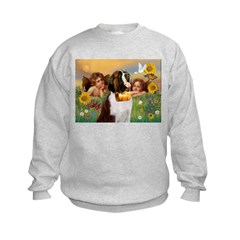 Two Angels & Saint Bernard Sweatshirt