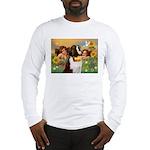 Two Angels & Saint Bernard Long Sleeve T-Shirt