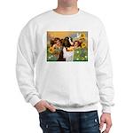 Two Angels & Saint Bernard Sweatshirt