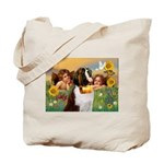 Two Angels & Saint Bernard Tote Bag