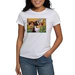 Two Angels & Saint Bernard Women's T-Shirt
