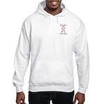Real men wear pink Breast Cancer Hooded Sweatshirt