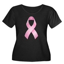 Pink Ribbon Breast Cancer Women's Plus Size Scoop